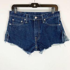 Levi's Denim Shorts Jean Size 32 Dark 513 Cutoffs